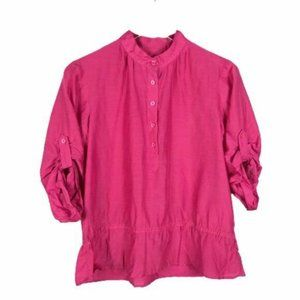 Michael Kors Pink Tunic Top Size P 3/4 Sleeve